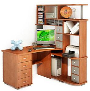 Стол Компьютерный Большой С Полками И Шкафом в Москве - изображение 7